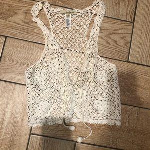 Beautiful crochet vest